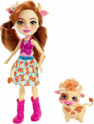MUÑECA ENCHANTIMALS CAILEY COW Y CURDLE